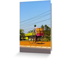 Man on a bicycle in Nairobi, KENYA Greeting Card