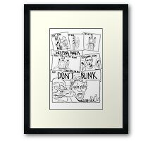Weeping Angel Comic Framed Print
