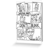 Weeping Angel Comic Greeting Card