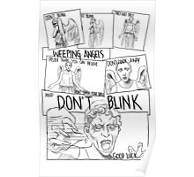 Weeping Angel Comic Poster