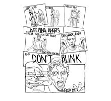 Weeping Angel Comic Photographic Print