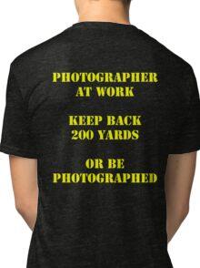 Photographer at work Tri-blend T-Shirt