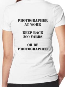 Photographer at work Women's Fitted V-Neck T-Shirt