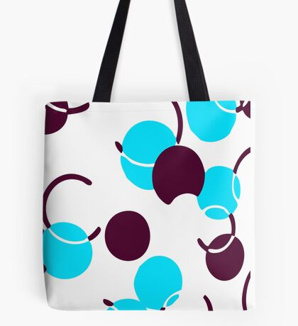 Blue Ball Pattern Tote Bag