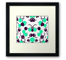 Green Turquoise Ball Pattern Framed Print