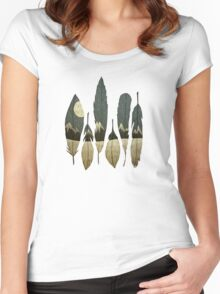 The Birds of Winter Women's Fitted Scoop T-Shirt