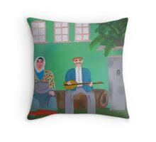 A musician couple from Bozkır Throw Pillow