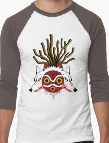 Wolf Princess (Color) Men's Baseball ¾ T-Shirt