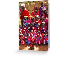 Masai, KENYA Greeting Card