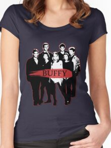 BTVS CAST (S3): The Scoobies! Women's Fitted Scoop T-Shirt