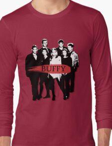 BTVS CAST (S3): The Scoobies! Long Sleeve T-Shirt