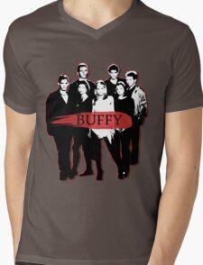 BTVS CAST (S3): The Scoobies! Mens V-Neck T-Shirt