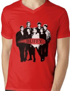 BTVS CAST (S3): The Scoobies! Mens V-Neck T-Shirt