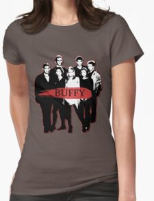 BTVS CAST (S3): The Scoobies! Womens Fitted T-Shirt