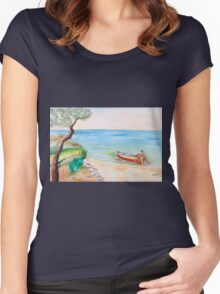 Il pescatore solitario Women's Fitted Scoop T-Shirt