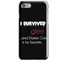 I survived Glee (Darren Criss) iPhone Case/Skin