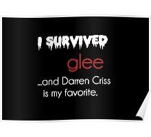 I survived Glee (Darren Criss) Poster