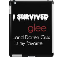 I survived Glee (Darren Criss) iPad Case/Skin