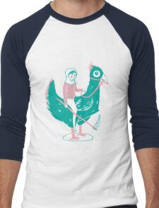 Lady Death upon her Noble Steed Men's Baseball ¾ T-Shirt