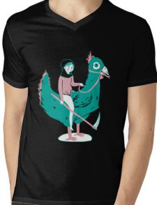 Lady Death upon her Noble Steed Mens V-Neck T-Shirt