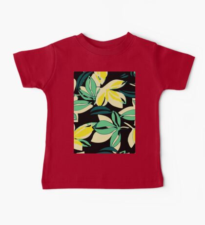 Leaf and Flowers Baby Tee