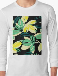 Leaf and Flowers Long Sleeve T-Shirt