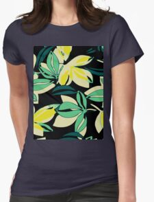 Leaf and Flowers Womens T-Shirt