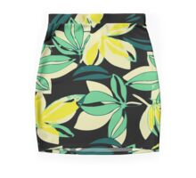Leaf and Flowers Mini Skirt