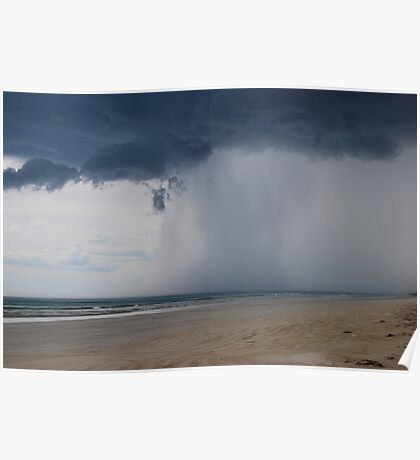 Storm approaching, Kingston, South East, South Australia Poster