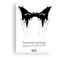 Victory stands on the back of sacrifice ver.2 Canvas Print