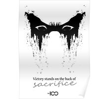 Victory stands on the back of sacrifice ver.2 Poster
