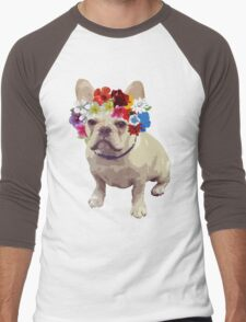 I Love Frenchies Men's Baseball ¾ T-Shirt