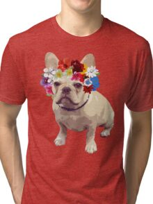 I Love Frenchies Tri-blend T-Shirt