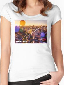 Buenos Aires Cityscape Women's Fitted Scoop T-Shirt