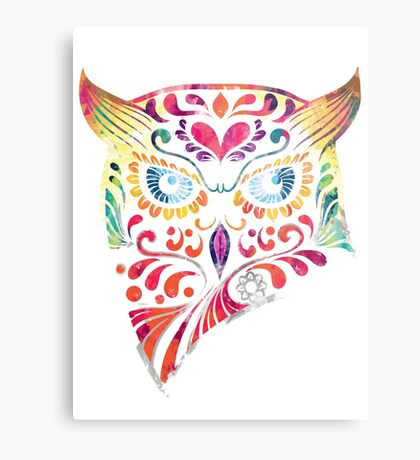 COLORFUL CANDY OWL Metal Print