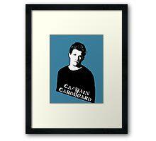RILEY FINN: Captain Cardboard Framed Print