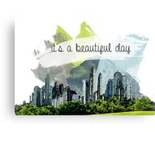 It's a beautiful day- City skyline design Canvas Print