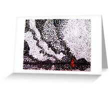 Fire in the distance Greeting Card