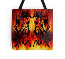 DRAGONS FIGHTING Tote Bag