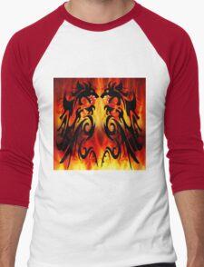 DRAGONS FIGHTING Men's Baseball ¾ T-Shirt