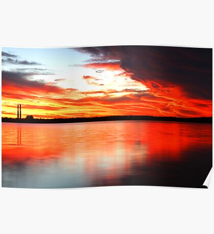 Sunset by the Lake Poster