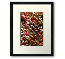 Phalacrocorax carbo birds in Nairobi, Kenya Framed Print