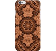Pine cone abstract kaleidoscop iPhone Case/Skin