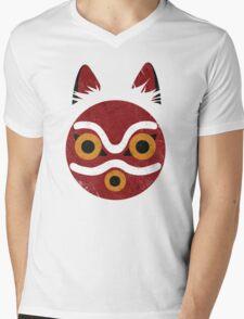 Mononoke Mask Mens V-Neck T-Shirt