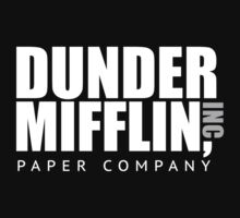 Dunder Mifflin Paper Notebook Kids Tee