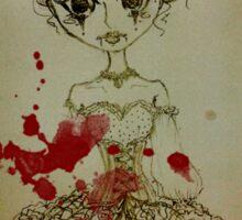 Nightmare Harlequin Lolita Doll Sticker