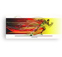 The Fastest Man on Earth Canvas Print