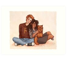 Ron and Hermione Art Print