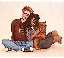 Ron and Hermione by susannesart