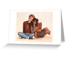Ron and Hermione Greeting Card